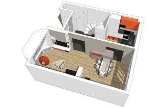 Preview for Amenagement appartement 40m2