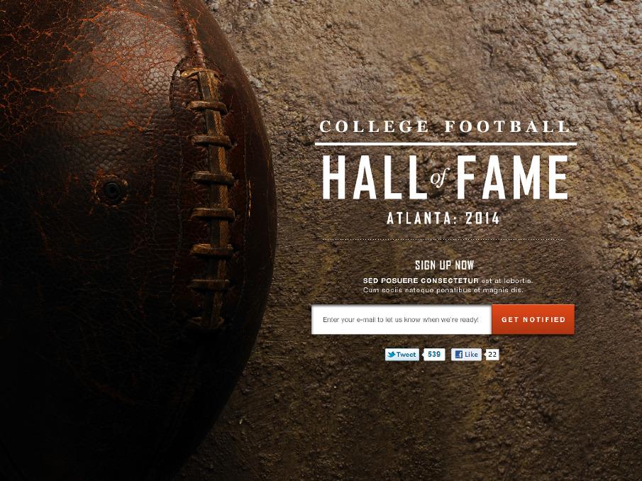 College Football Hall of Fame Logo Football Hall of Fame Darion